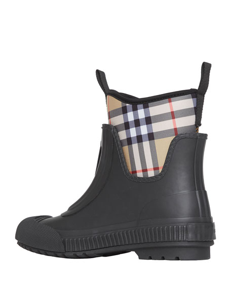 Image 2 of 4: Burberry Flinton Check Rain Booties
