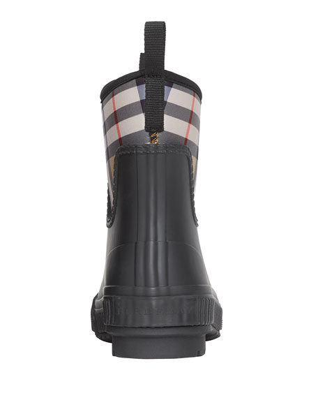 Image 4 of 4: Burberry Flinton Check Rain Booties