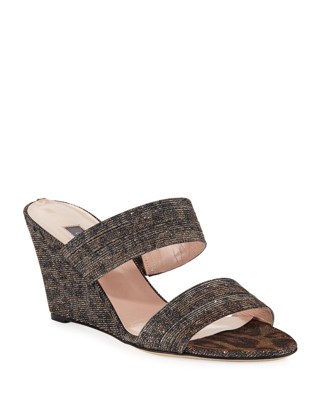 33e9b1dad9 SJP by Sarah Jessica Parker Fleur Leopard Sparkle Sandals | Neiman ...