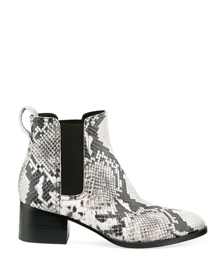 Rag & Bone Walker Snake-Embossed Leather Chelsea Boots