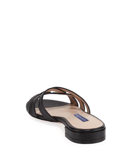 Stuart Weitzman Cami Looped Knot Patent Sandals