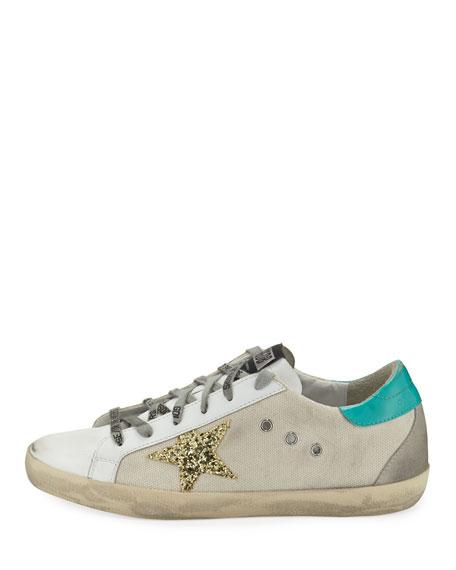 Golden Goose Superstar Mixed Low-Top Sneakers