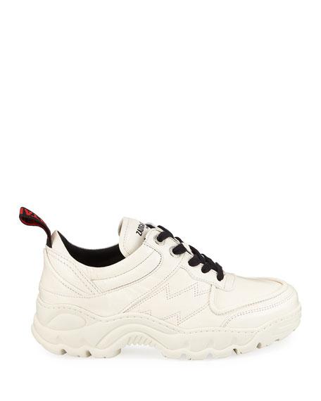 Zadig & Voltaire Blaze Leather Dad Sneakers