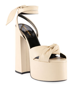 7c9af7a9eb74 Saint Laurent Paige Knotted Platform Sandals