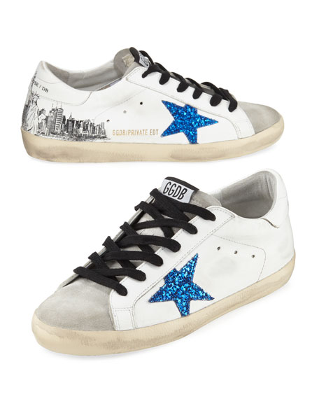Golden Goose Superstar NYC Leather Sneakers