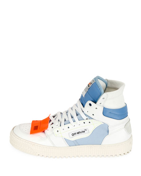 Off-White Off Court Leather High-Top Sneakers