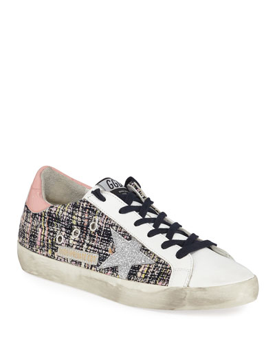 Superstar Boucle Lace-Up Sneakers