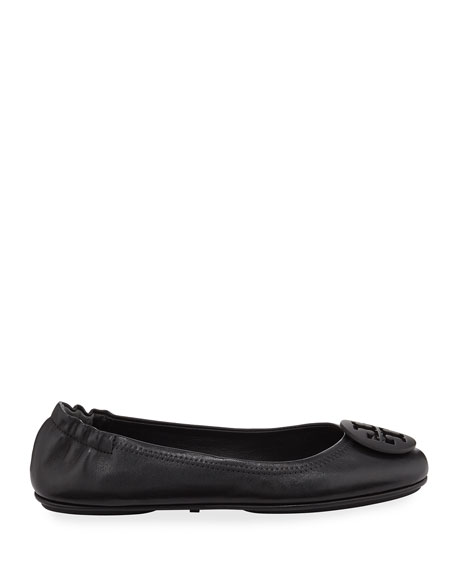 Image 2 of 3: Tory Burch Minnie Travel Leather Ballet Flats
