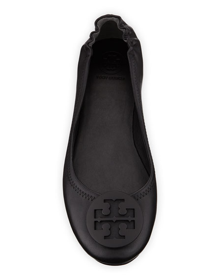 Image 3 of 3: Tory Burch Minnie Travel Leather Ballet Flats