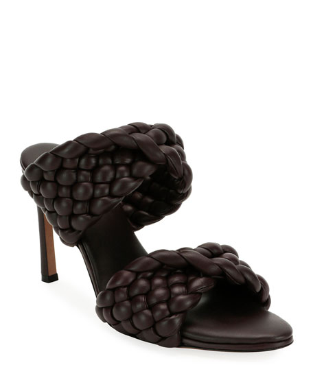 Image 1 of 4: Twist 95mm Woven Leather 2-Band Sandals