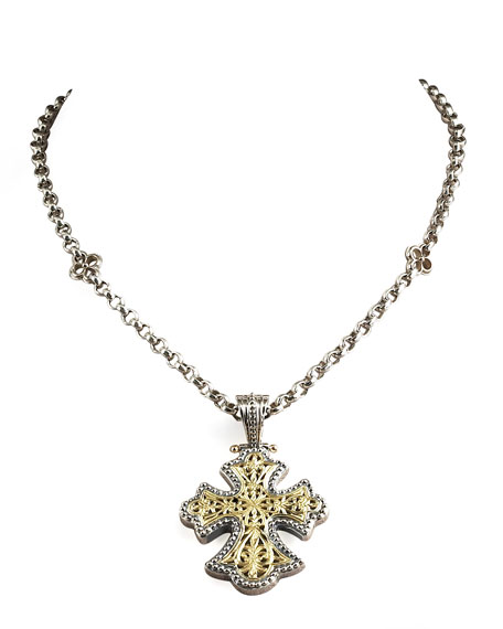Image 2 of 2: Konstantino Flared Cross Pendant