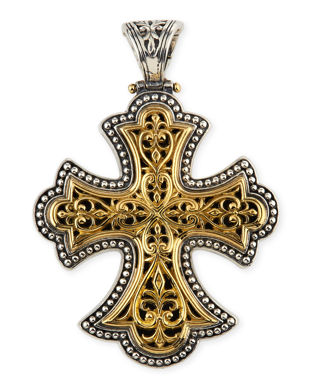 for men jewelry necklace konstantino metallic pendant cross tag null in gallery silver lyst product
