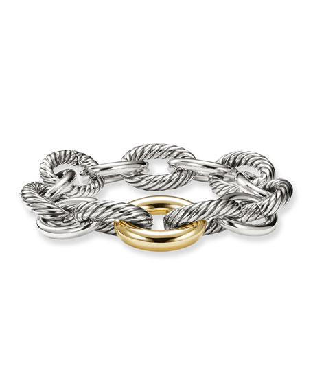 Image 1 of 4: David Yurman Oval Extra-Large Link Bracelet with Gold