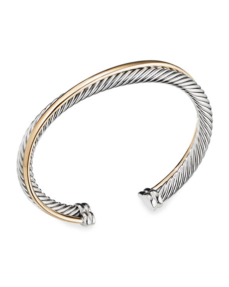 Image 1 of 4: David Yurman Crossover Cuff with Gold