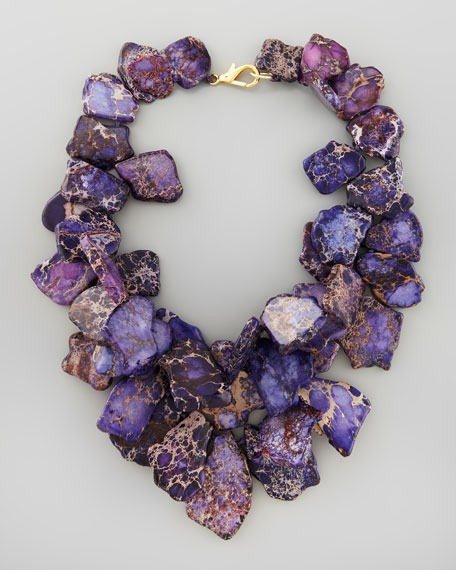 Chunky Violet Jasper Necklace