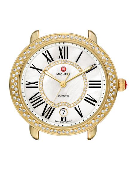MICHELE 16mm Serein Diamond Watch Head, Gold