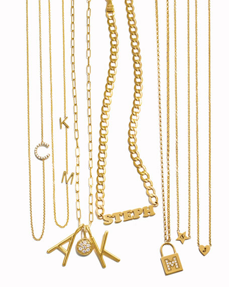 23eb1d15a Image 4 of 4: Maya Brenner Designs Mini 2-Letter Personalized Necklace, 14k