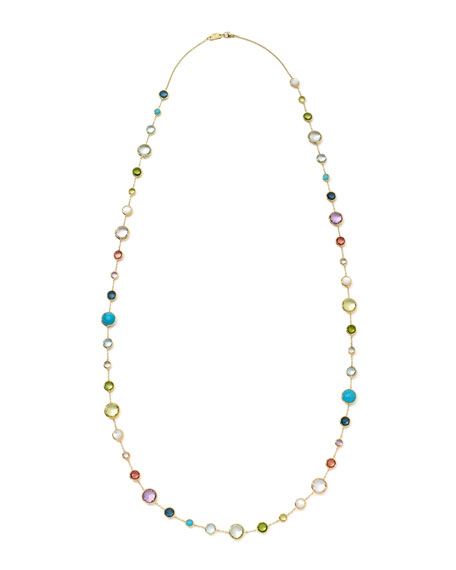 Image 3 of 3: 18k Gold Rock Candy Lollitini Necklace in Multi, 36""