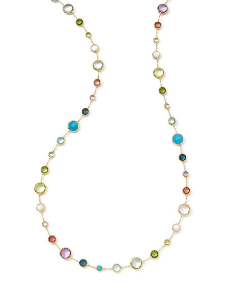 Image 1 of 3: 18k Gold Rock Candy Lollitini Necklace in Multi, 36""