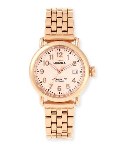 The Runwell Rose Gold Watch w/Bracelet Strap, 36mm