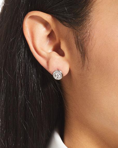 18k Gold Diamond Stud Earrings