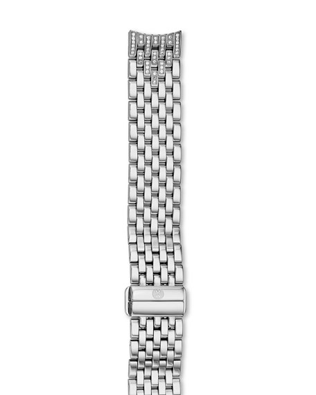 MICHELE 16mm Serein Stainless Steel Diamond 7-Link Taper