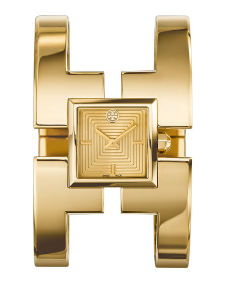 Tory Burch Watches Sawyer Golden Bangle Watch