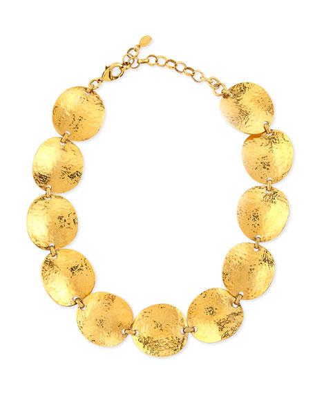 Jose & Maria Barrera Gold-Plated Hammered Bead Bracelet 3rtfcFSm