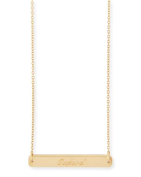"""Coordinates Collection Legend Engraved Pendant Necklace, 16-18""""L"""