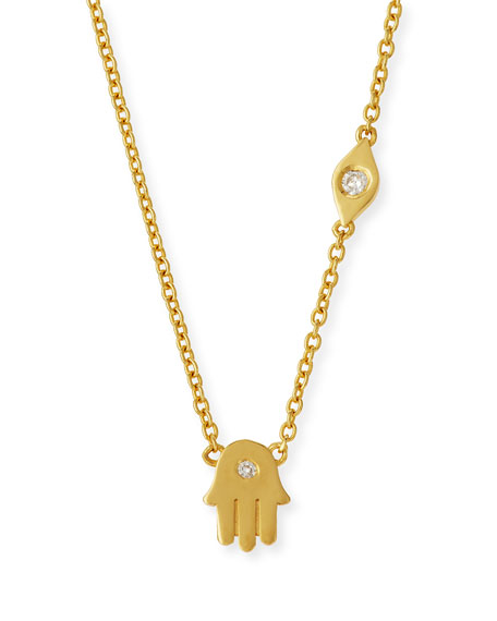 SHY by SE Double Protection Diamond Necklace