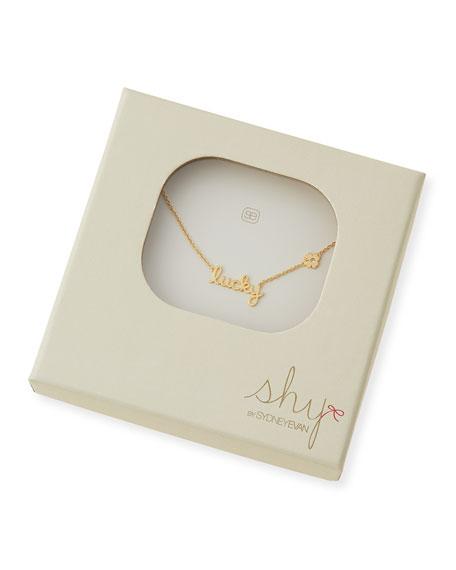 Lucky Diamond-Clover Pendant Necklace