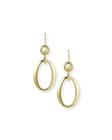 Ippolita 18k Glamazon Short Oval Link Earrings