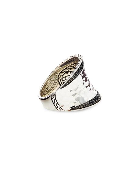 Classic Chain Lava Pavé Ring