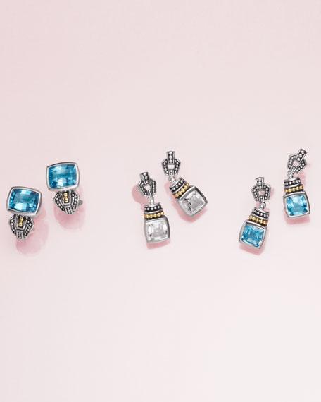 7mm Glacier Caviar Drop Earrings