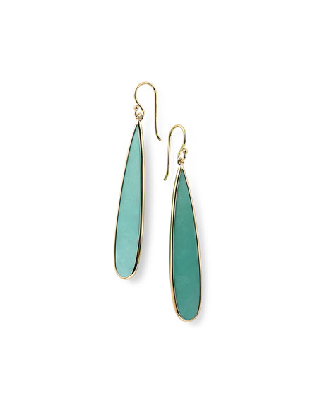 Ippolita 18K Rock Candy Turquoise Long Drop Earrings qlhJKiTc