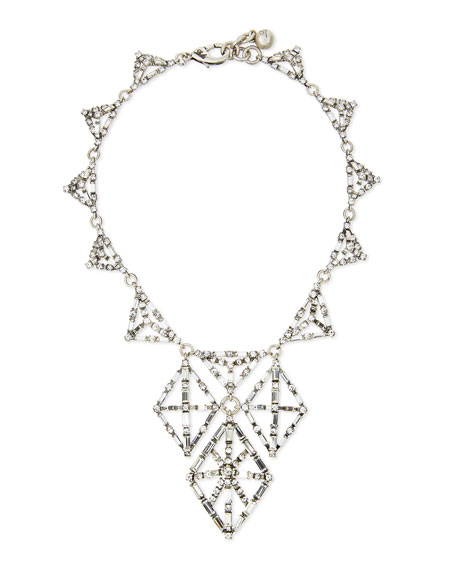 Lulu Frost Clara Crystal Navette Statement Necklace 0HkcqS