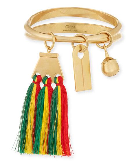 Chloe Janis Fringe Bangle Charm Bracelet