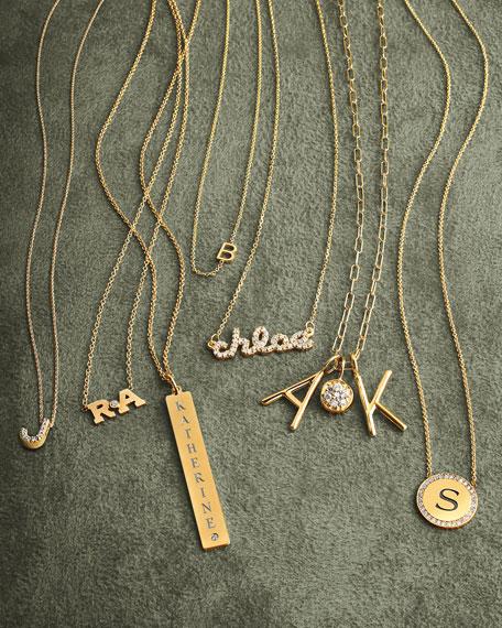 Sarah Chloe Ava Petite Diamond Name Pendant Necklace