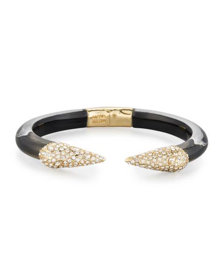 Pavé Crystal Pyramid Cuff Bracelet