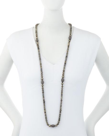 Lavana Long Labradorite & Pyrite Necklace