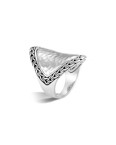 Classic Chain Silver Heritage Marquis Ring