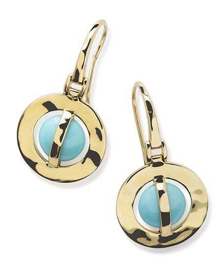 18K Senso Wrapped Earrings in Turquoise