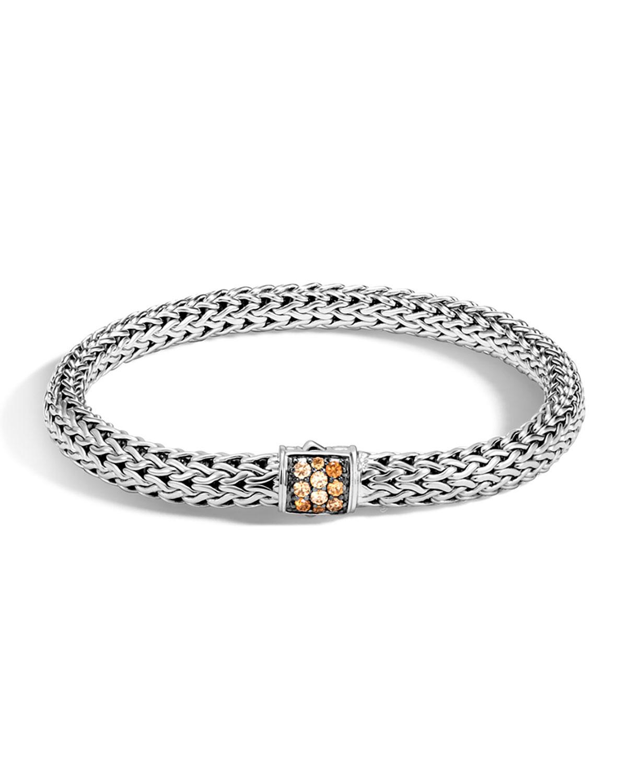 John Hardy Classic Chain Small Pavé Pusher Clasp Bracelet wGi4sKiS