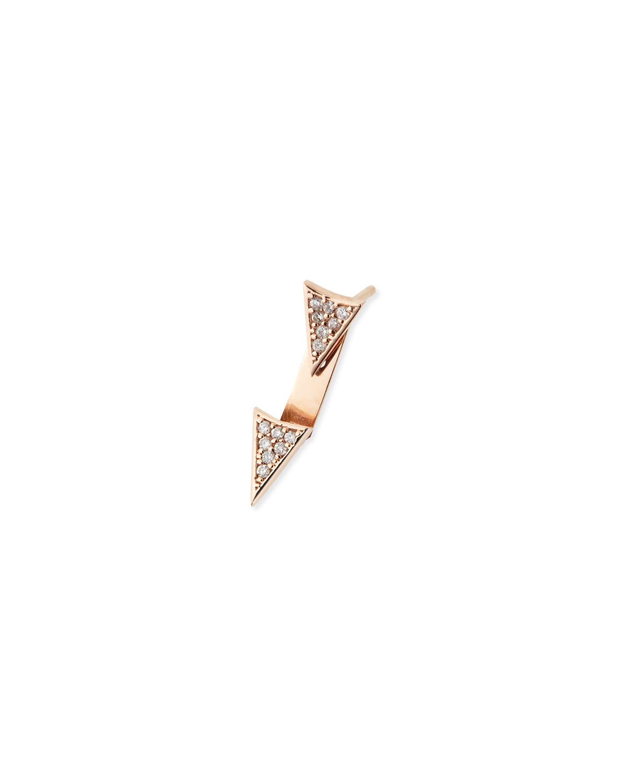Sydney Evan Single Earring with Diamond Triangle & Ear Jacket Snpvwjd