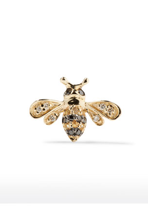 Sydney Evan 14k Gold Diamond & Sapphire Bee Stud Earring (Single)