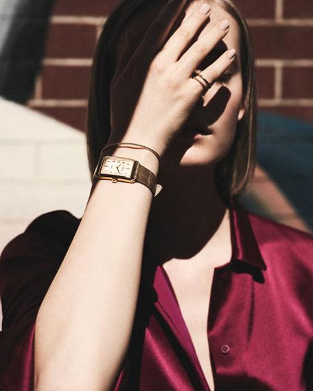 14k Gold Coin-Edge Cuff Bracelet