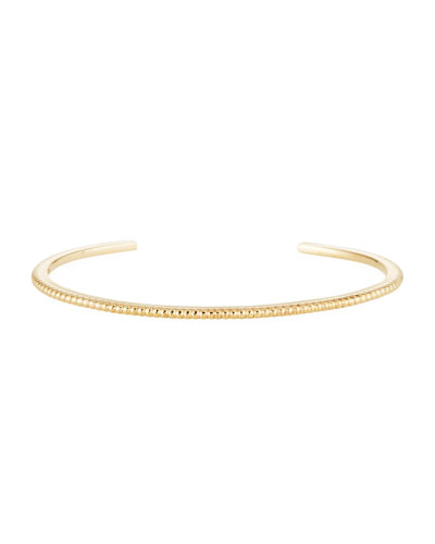 14k Gold Coin-Edge Cuff Bracelet