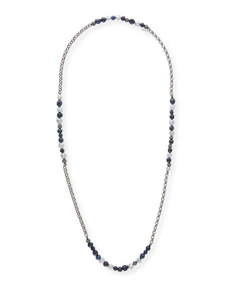 Hipchik Rolo Beaded Gunmetal Necklace