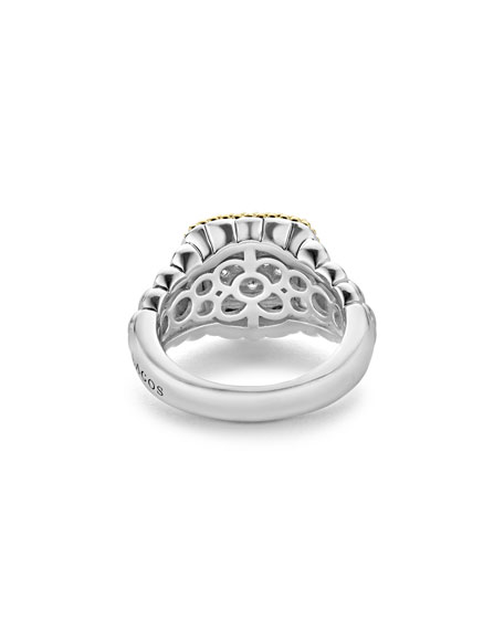 Image 4 of 5: Lagos Diamond Lux Square Ring, Size 7