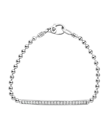 Lagos Caviar Spark Diamond Ball-Chain Bracelet
